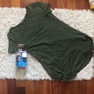 Safari green T-shirt dress